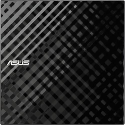 ASUS External Slim Black 8X DVD RW Stylish Diamond Cut Design Optical Drive SDRW 08D2S U/B/G/ACI/AS Top/500