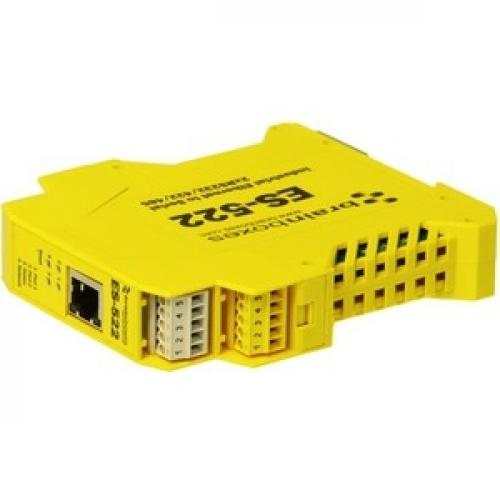 Brainboxes Industrial Ethernet To Serial 2xRS232/422/485 Top/500