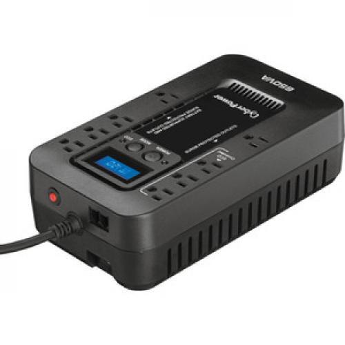 CyberPower EC650LCD Ecologic 650VA/390 Watts Energy Efficient Desktop LCD UPS Top/500