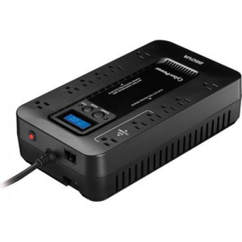 CyberPower EC850LCD Ecologic 850VA/510 Watts Energy Efficient Desktop LCD UPS Top/500