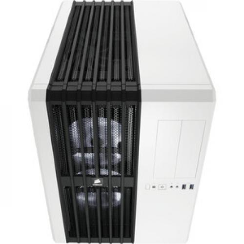 Corsair Carbide Series Air 540 Arctic White High Airflow ATX Cube Case Top/500