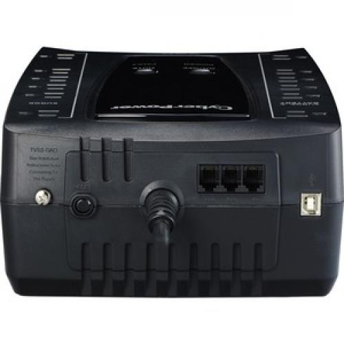 CyberPower AVR Series AVRG900U 900VA 480W Desktop UPS With AVR And USB Top/500