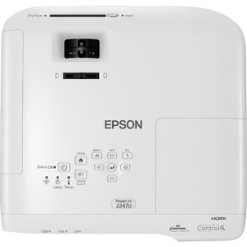 Epson PowerLite 2247U LCD Projector   16:10 Top/500