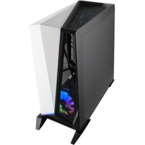 Corsair Carbide Series SPEC OMEGA RGB Mid Tower Tempered Glass Gaming Case   White Top/500