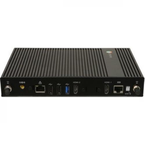 AOpen Chromebox Commercial 2 Chromebox   Intel Celeron 3865U   4 GB RAM DDR4 SDRAM   32 GB SSD   Small Form Factor   Black Top/500