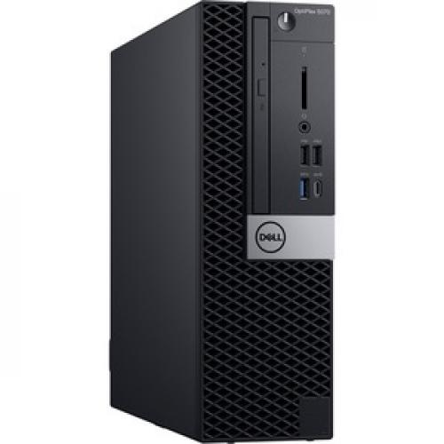 Dell OptiPlex 5000 5070 Desktop Computer   Intel Core I7 9th Gen I7 9700 3 GHz   8 GB RAM DDR4 SDRAM   500 GB HDD   Small Form Factor Top/500