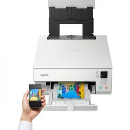 Canon PIXMA TS TS6320 White Inkjet Multifunction Printer   Color Top/500