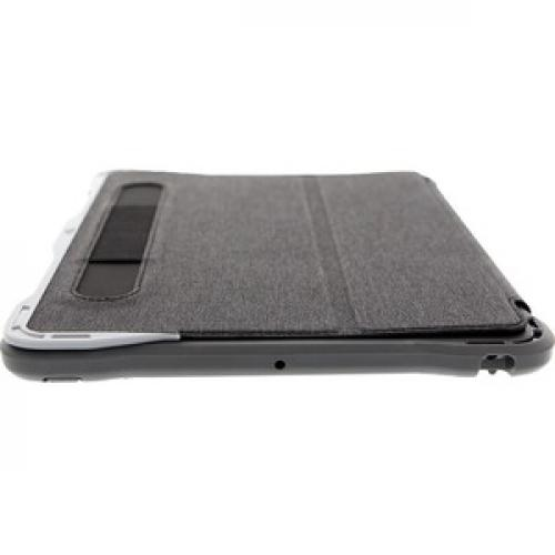 """Brenthaven Edge Folio III Carrying Case (Folio) For 10.2"""" Apple IPad (7th Generation) Tablet   Gray, Translucent Top/500"""