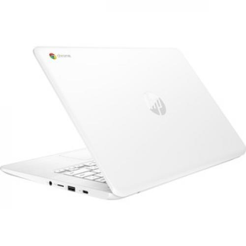 "HP 14 14"" Chromebook Intel Celeron N3350 4GB RAM 32GB EMMC Snow White   Intel Celeron N3350 Dual Core   Intel HD Graphics 500   USB 3.1 Connector   Chrome OS   11 Hr 30 Min Battery Life Top/500"