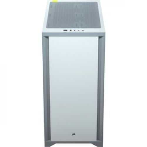 Corsair 4000D Tempered Glass Mid Tower ATX Case   White Top/500