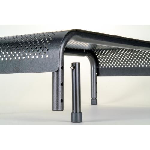 Allsop Metal Art Ergo 3 Adjustable Height Monitor Stand 15 Inch Wide Platform   (31630) Zoom-Closeup/500