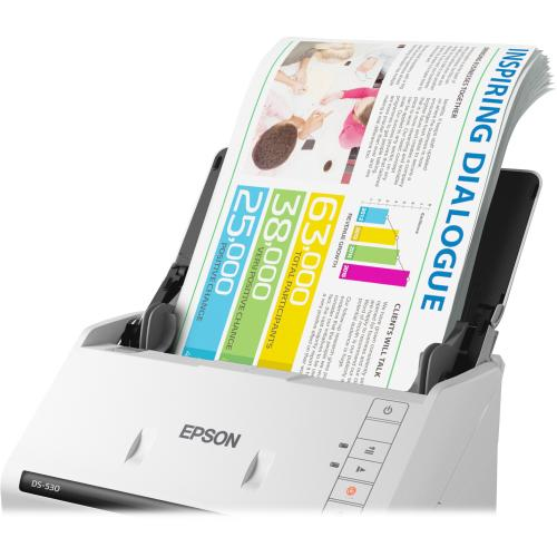 Epson WorkForce DS 530 Sheetfed Scanner   300 Dpi Optical Zoom-Closeup/500