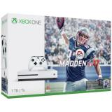 Microsoft Xbox One S Madden NFL 17 Bundle (1TB) - Game Pad Supported - Wireless - White - AMD Radeon Graphics Core Next - 3840 x 2160 - 16:9 - 2160p - Blu-ray Disc Player - 10 ...(more)