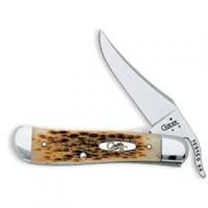 Case Cutlery 260 Case RussLock Pocket Knife with Stainless Steel Blade Amber Bone