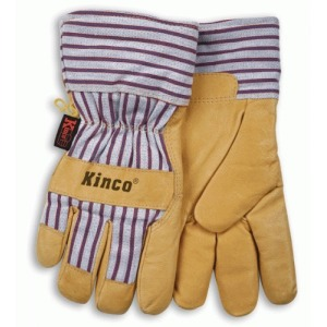 Kinco 1927 Thermal Heatkeep Lined Grain Pigskin Leather Glove, Work, Large, Palomino