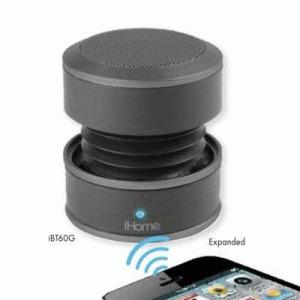 iHome iBT60 Speaker System - Wireless Speaker(s) - Gray