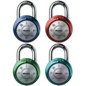 Master Lock Combination Dial Padlock, 1-7/8-Inch Wide, Assorted Colors