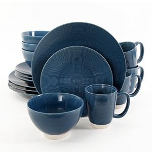 Gibson Elite Rowland 16 Piece Dinnerware Set, Blue