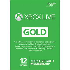 Microsoft 12-Month Xbox Live Gold Membership
