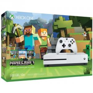 Open Box: Open Box: Microsoft Xbox One S Minecraft (500GB) Refurbished NO SOFTWARE OR BUNDLE INCLUDED