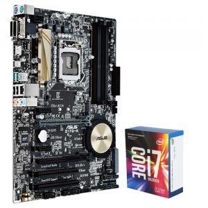 Asus Z170-K Desktop Motherboard + Intel Core i7-7700K Kaby Lake Quad-Core 4.2 GHz LGA 1151 91W