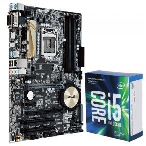 Asus Z170-K Desktop Motherboard + Intel Core i5-7600K Kaby Lake Quad-Core 3.8 GHz LGA 1151 91W