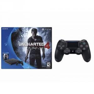 Sony PS4 Slim 500 GB Uncharted 4 bundle + Dualshock 4 controller (Jet Black)