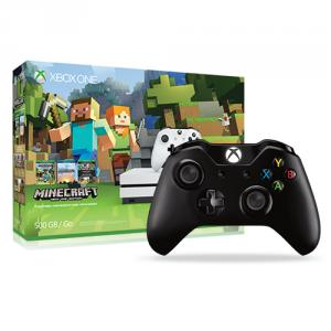 Microsoft Xbox One S Minecraft Favorites Bundle (500GB) + Xbox One Wireless Controller Black