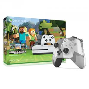 Microsoft Xbox One S Minecraft Favorites Bundle (500GB) + Xbox One Wireless Controller - Winter Forces Special Edition