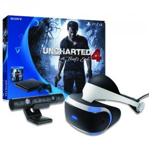PlayStation 4 Slim 500GB Console - Uncharted 4 Bundle + PlayStation VR Headset + PlayStation 4 Camera