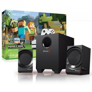 Microsoft Xbox One S Minecraft Favorites Bundle (500GB) + Creative Sound BlasterX Kratos S3 2.1 Gaming Speaker System