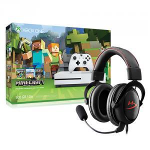 Microsoft Xbox One S Minecraft Favorites Bundle (500GB) + Kingston HyperX Cloud Core Headset
