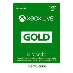 Microsoft Xbox Live 12-Month Gold Membership (Digital Code)