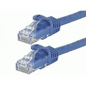 Monoprice FLEXboot Series Cat5e 24AWG UTP Ethernet Network Patch Cable, 7ft Blue
