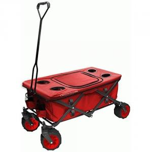 Creative Outdoor Distributor Two Tone All-Terrain Wagon with Cooler Table