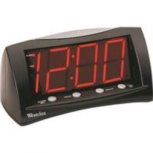 LARGE LED ALARM CLOCK RED DISP