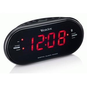 """Westclox 81012bt Bluetooth (r) 1.2"""" Led Clock Radio With Usb (81012bt)"""