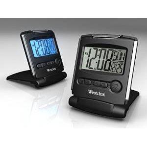 Open Box: Open Box: REFURBISHED: Westclox Folding Travel Alarm Clock 72028