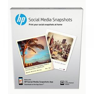 HP Social Media Snapshots Removable Sticky Photo..