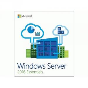 Microsoft Windows Server 2016 Essentials - License and Media- 25 user, 1 Server, 2 CPU