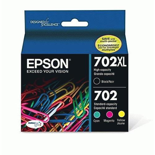 Epson DURABrite Ultra 702XL Original Ink Cartridge - CMYK, Black