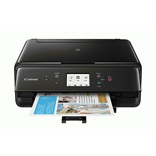 Open Box: Canon TS6120 Wireless All-In-One Printer with Scanner and Copier: Mobile and Tablet Printing, with Airprint(TM) and Google Cloud Print compatible, Black