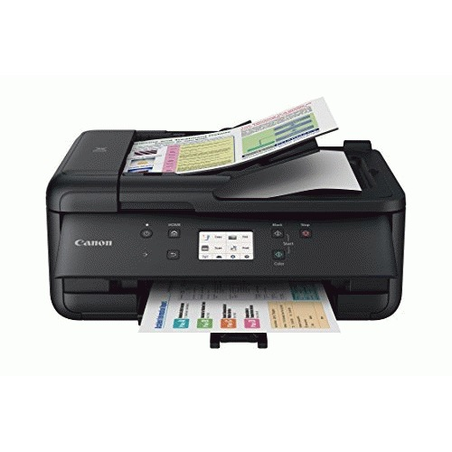 Open Box: Canon PIXMA TR7520 Wireless Home Photo Office All-In-One Printer with Scanner, Copier and Fax: Airprint and Google Cloud Compatible, Black