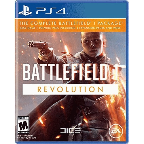 Battlefield 1 Revolution Edition PlayStation 4 - PS4 Supported - ESRB Rated M (Mature 17+) - First Person Shooter - Multiplayer Supported - An all-out war experience