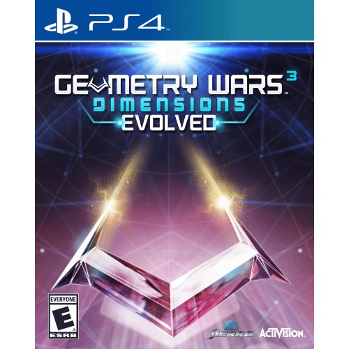 Geometry Wars 3 Dimensions Evolved PS4 - For PlayStation 4 - ESRB Rated E - Over 100 levels - Co-op play - Online play