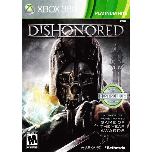Dishonored Xbox 360 Platinum Hits - For Xbox 360 - ESRB Rated M (Mature 17+) - First-person action game - Single Player - Decision based outcomes