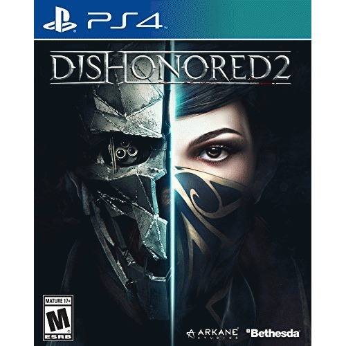 Dishonored 2 PS4 - For PlayStation 4 - ESRB Rated M (Mature 17+) - Action/Adventure & Shooter - Single-Player Game - Reprise your role as a supernatural assassin
