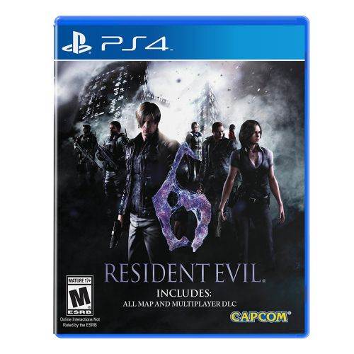 Resident Evil 6 PS4 - For PlayStation 4 - ESRB Rated M (Mature 17+) - Solo or co-op play supported - 4 different game modes