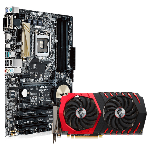 Asus Z170-K Desktop Motherboard + MSI RX 570 Gaming X 4GB Graphics Card