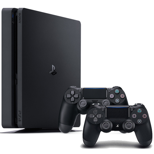 PlayStation 4 Slim 1TB Console + Extra DualShock 4 Wireless Controller